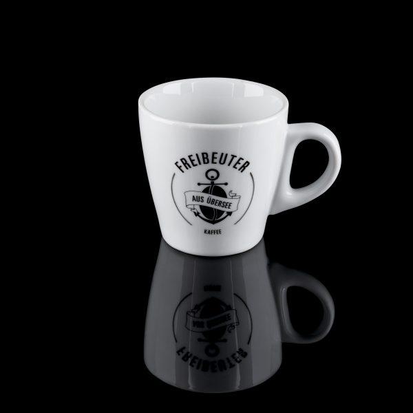 Offizierstasse Kaffee-/Cappuccinotasse mit Freibeuter Logo 6 Stück