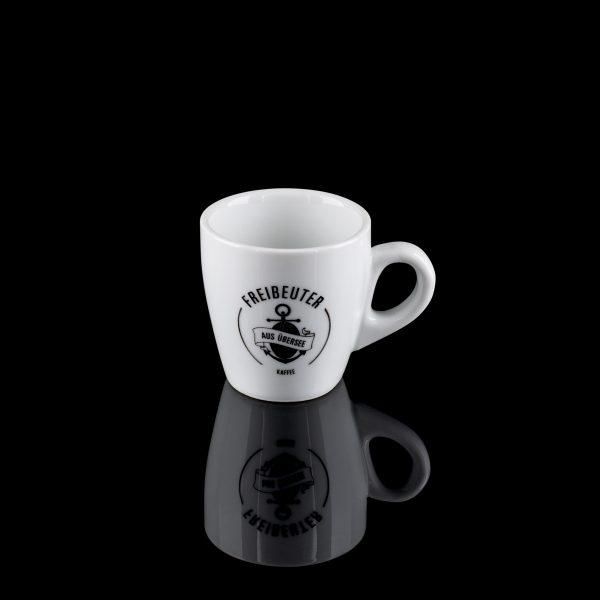 Rigger's Mug Espressotasse mit Freibeuter Logo + Untertasse 6 Stück